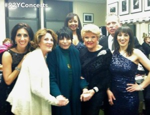 Tribute to Miss Peggy Lee-alongside my friends & awesome vocalists Marilyn Maye, Barbara Fasano & Gabrielle Stravelli & led by the incomparable Billy Stritch. We were all thrilled to be joined by the wonderfully talented Linda Lavin & the legendary Liza  Minnelli -Feb 2013