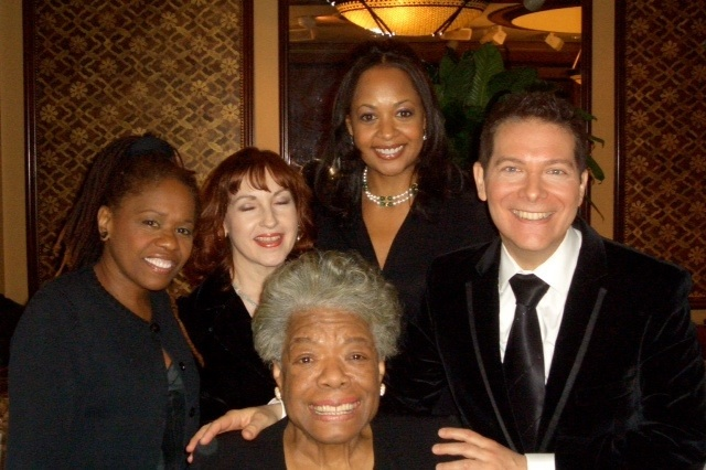 With Michael Feinstein and Maya Angelou