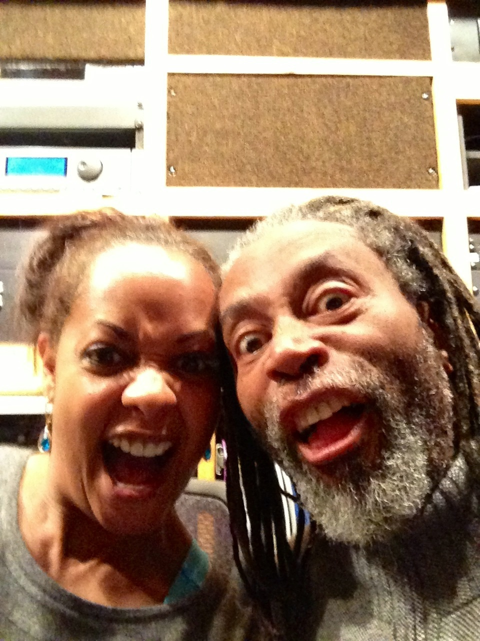 Mugging for the camera with my friend and collaborator Bobby McFerrin
