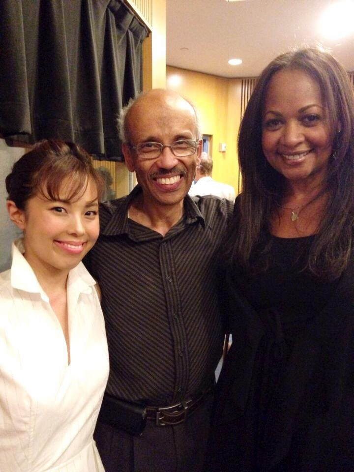 With a fellow teacher and longtime friend,  Richard Harper and student/performer Kazue Kazami