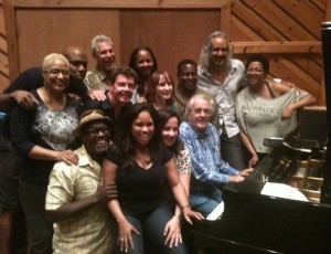 At a recording session with legendary composer and academy award winner Michel Legrand