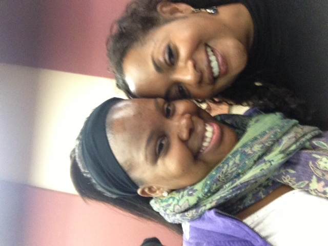 with Amber Riley (from Glee and Cotton Club Parade at NYC Center nov 2012)