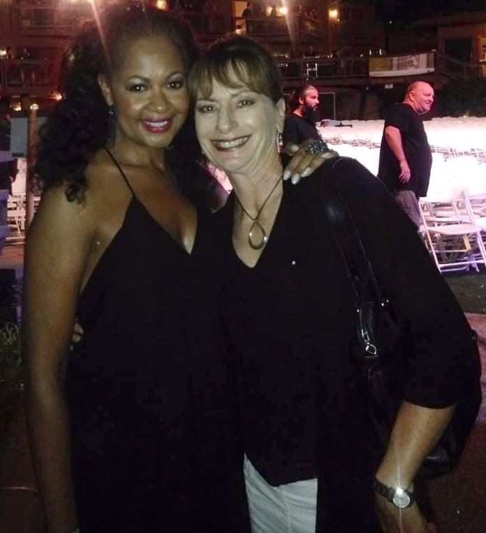 With new friend & fan Liz Coglianese after the Steely Dan show — Jul 13 2014 at Humphreys Concerts by the bay.