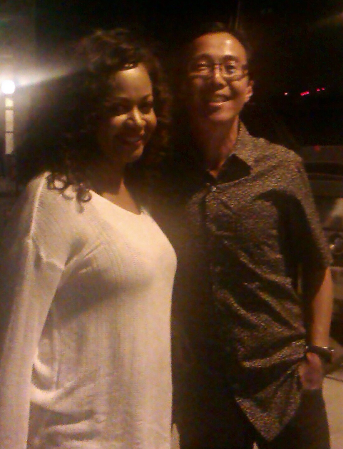 "With Dave Shikaze, who said the Steely Dan concert in Toronto.. ""was fantastic""! — Aug 24 2014 at Sony Center for the Performing Arts."