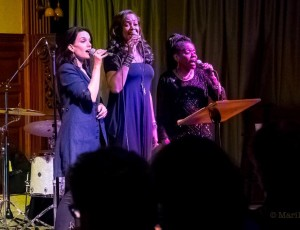 Performing  with my singing sisters Cat Russell & Carolyn Leonhart at Jazz on the Mountain jan 17 2015