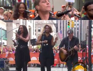 With Rob Thomas at the TODAY Show