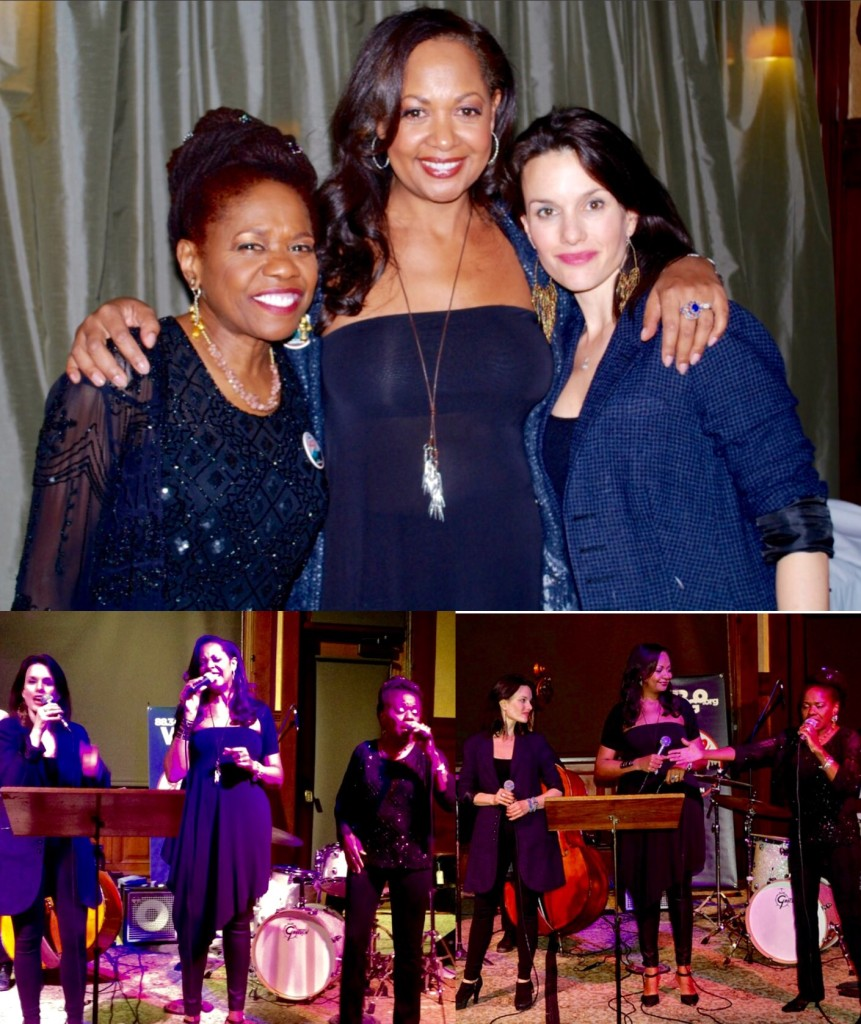 Performing with my singing sisters Cat Russell & Carolyn Leonhart
